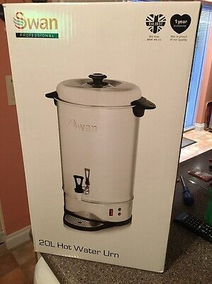 Brand New Swan Professional 20L Hot Water Urn Stainless Steel