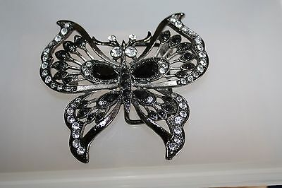 DECORATIVE STONE EMBELLISHED BUTTERFLY - 3.5 x 3 INCHES