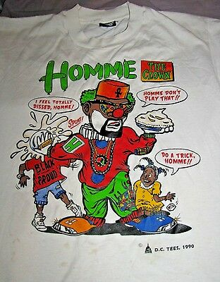 "1990 Homme The Clown Tee Shirt ""homey Don't Play That"" Spin Off Living Color Tv"