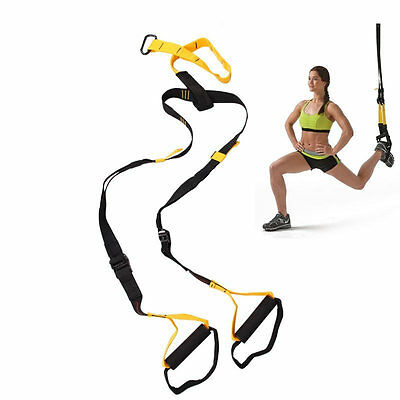 Heavy Duty Strength Training Suspension Exercise Band Resistance Trainers Straps