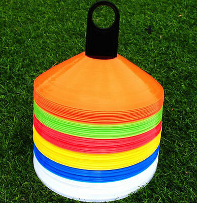 Speed Disc Cone Soccer Football Cross Training Aids Set 20pcs Heavy Duty