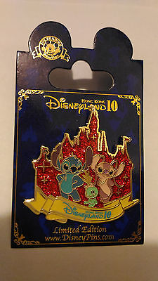Disney Pin HKDL Hong Kong Disneyland - Trading Pin Stitch Angel Scrump 10th Annv