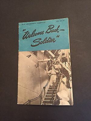 "Rare World War II ""Welcome Back Soldier"" Booklet Original 1944 Rare"