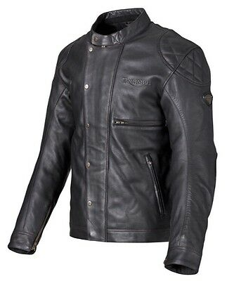 Mens Triumph McQueen Desert Racer Leather Motorcycle Jacket Black XXL NWT