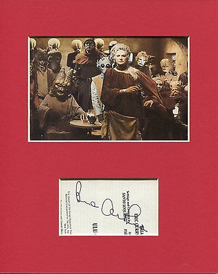 Bea Arthur 1978 Star Wars Holiday Special Rare Signed Autograph Photo Display