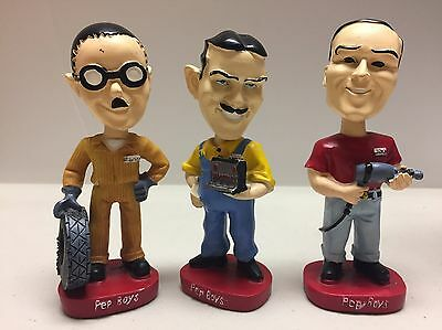 PEP BOYS Bobblehead Manny, Moe & Jack: Set of 3 Bobbleheads Limited Edition