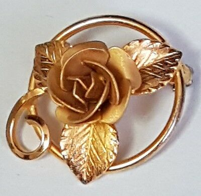 BOND-BOYD Sterling Silver flower Brooch With Gold Colour - 925 Silver
