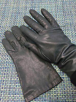 Vintage Olive Green Leather Mens Or Womens Gloves Size 9? Lined