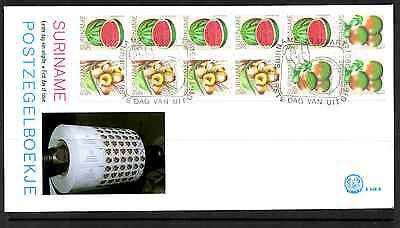 Suriname 1980 Fdc – Fruits Booklet Pane #a0259