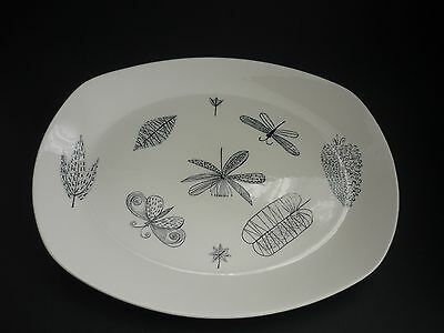 "Very Rare Midwinter Terance Conran ""nature Study"" Meat Serving Plate 35 Cm Mint"