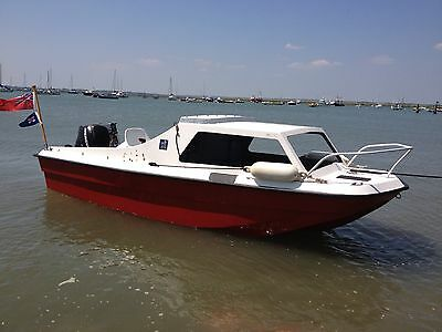 14ft Day boat - Fishing Cuddy with 20hp 4 stroke Mercury Outboard on remotes
