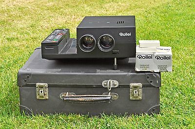 Rolleivision 35 Twin Lens Slide projector with carry case