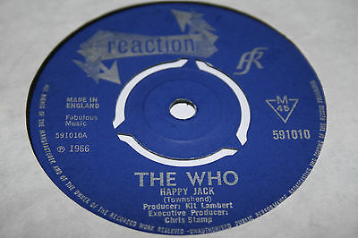 THE WHO happy jack / i've been away. uk 45 Reaction 591010. EX+