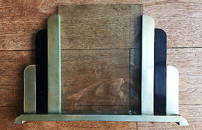 Antique Art Deco Metal & Glass Picture Frame
