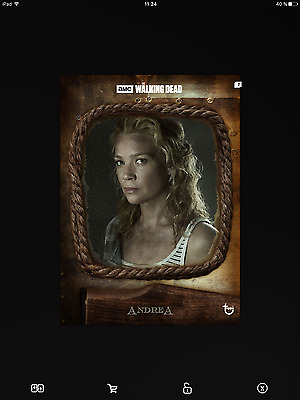 Topps the walking dead Andrea versus brown full set with award