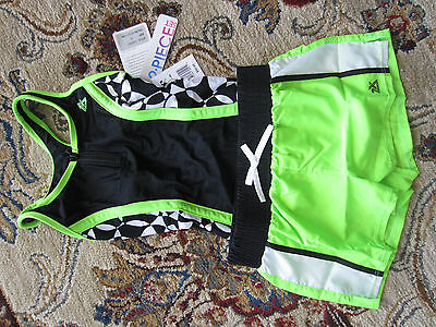 NWT Girls ZeroXposur One Piece Swim Suit Swimsuit & Short Set -  8,10,12,14,16