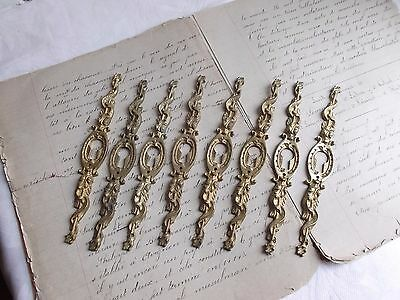 French 8 antique  project cabinet furniture key hole plate ornate bronze awesome