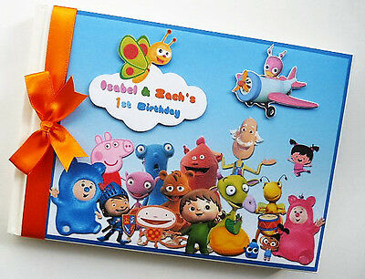 Personalised Baby Tv Characters First/1St Birthday Guest Book - Any Design