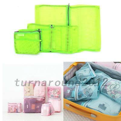 Useful 4PCS Clothes Storage Bags Packing Cube Travel Luggage Organizer Pouch