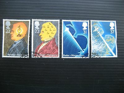 Gb 1991 Scientific Achievements Full Set Sg 1546/9 Very Fine Used Stamps