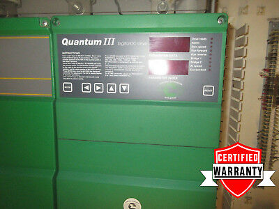 Quantum 3 DC Drive variable speed 480/240 V 200/100 HP 9500-8308 1 year warrant