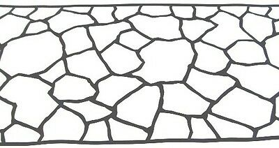 100 sqft Fieldstone Concrete Driveway Stencils for Patios, Decks, more!
