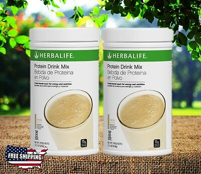 HERBALIFE PROTEIN DRINK MIX VANILLA 616G X2 Fast Shipping From US