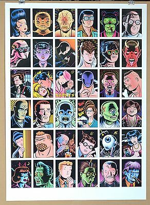 Rare Charles Burns Uncut GOON SQUAD Trading Cards 1992 Kitchen Sink Press