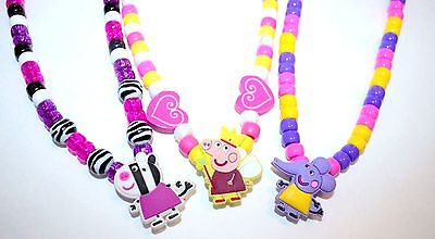 Peppa Pig Necklace - You pick Toddler and Childrens Jewelry Handmade for ages 3+