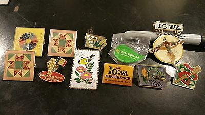 Iowa Lapel Pin Lot Kalona VA Medical Boone American Legion