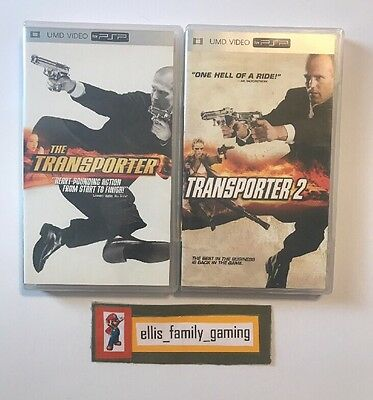 Lot Of 2 UMD Video DVD Movies For PSP The Transporter 1 & 2 1 And 2 - Ships Fast
