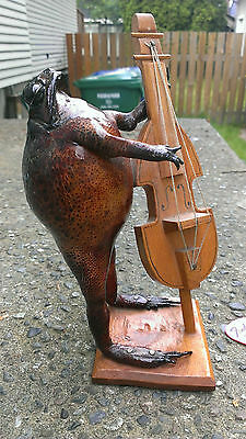 Frog Playing Bass Guitar