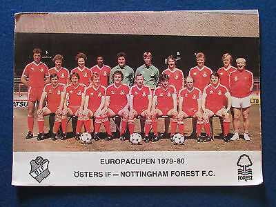European Cup 1st Round 2nd Leg Programme - Osters v Nottingham Forest - 3/10/79