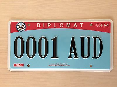 US Diplomatic license plate