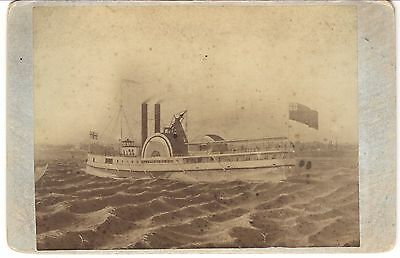 "Super Rare Cdv: Sidewheeler ""city Of Toronto,"" Ca. 1839-1863, Steamboat"