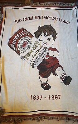 100 good years Campbell tomato soup 1897 the 1997 vintage throw blanket
