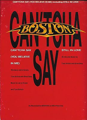 BOSTON  Can'tcha Say  original sheet music songsheet