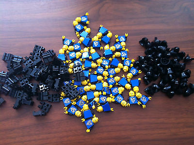 Lego Classic Castle Lot of 50 NEW Black Falcon Minifigures Figures 10039 6074
