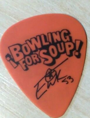 BOWLING FOR SOUP * STAGE USED* PICK Plectrum ERIK CHANDLER Manchester 2016 RARE!