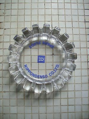 Nippondenso Spark Plugs Promotional Lead Crystal Ashtray Gear Shape