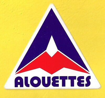 Vintage Montreal Alouettes CFL Football Team Logo Decal Sticker