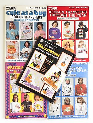 Lot of Iron On Transfer Pattern Books approximately 4,000 Designs Fabric Crafts