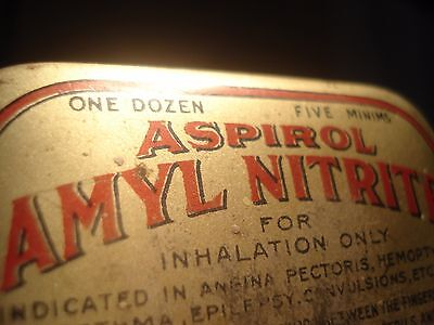 Antique Eli Lilly Aspirol Amyl Nitrate Pill Tin Container