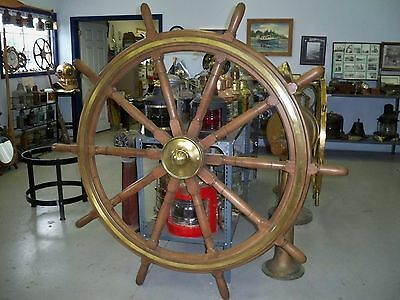 90 Year Old SHIP WHEEL from S S Imperial Windsor