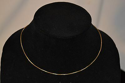 """22k Yellow Solid Gold  16"""" Diamond Cut Box Chain Necklace 916"""