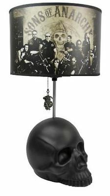 Sons of Anarchy Skull Base Table Lamp Group Photo Reaper Logo Pull SOA NEW