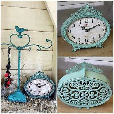 Table Clock Vintage Paris French Style Mantle Shelf Antique Rustic Nightstand