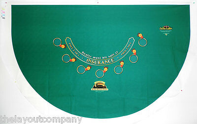 Oversize Blackjack Table Layout - 7-Player - Lucky Ladies - NEW OVER RUN