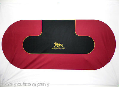 MGM - LAS VEGAS STRIP - 8' Poker Table Layout - Ultra-Glide™ Polyester - NEW