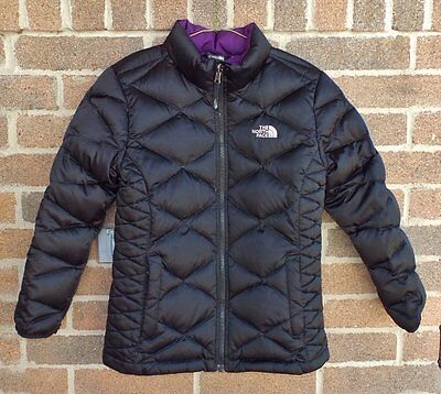 Girl's THE NORTH FACE ACONCAGUA Quilted 550 Down Puffer Jacket Large 14/16 Black